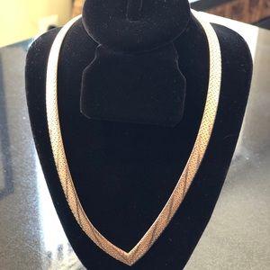 Jewelry - Silver Herringbone Choker